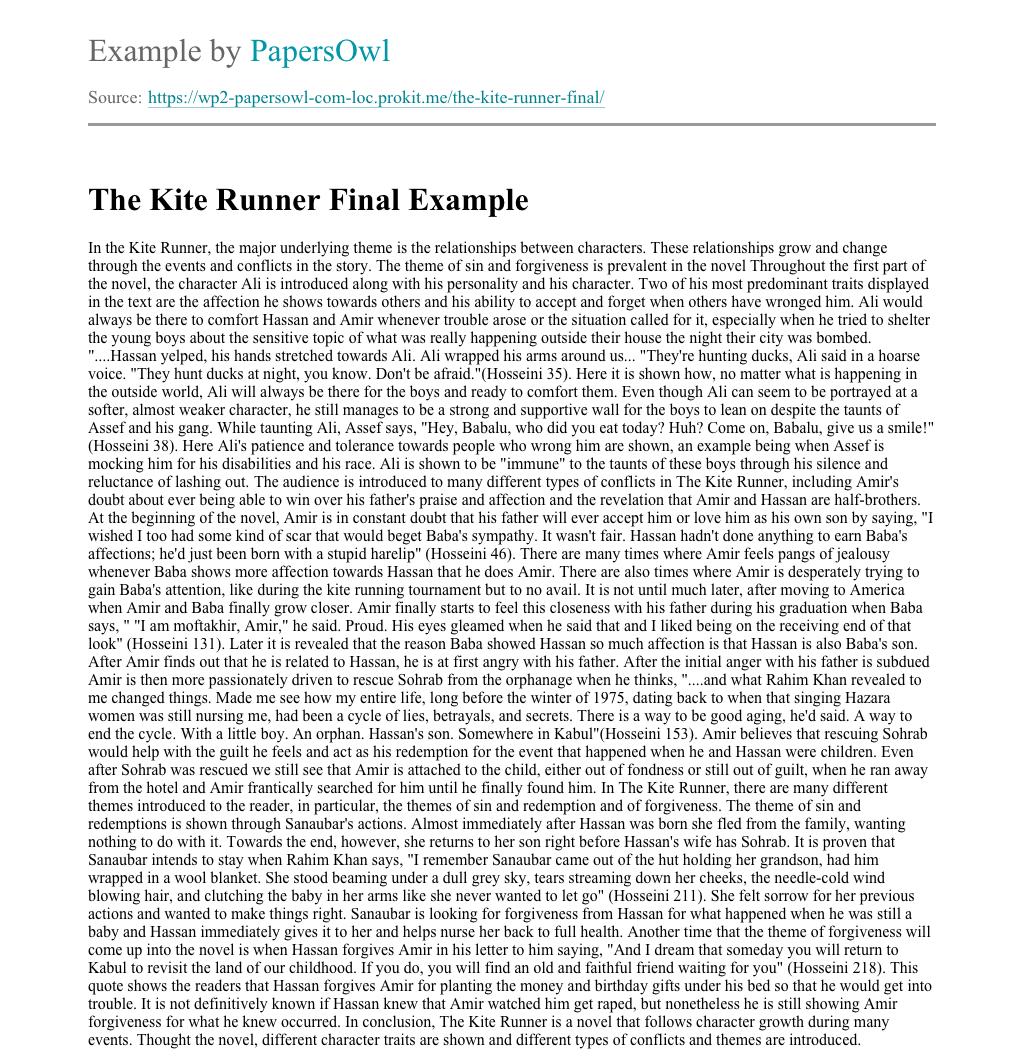 extended essay materials